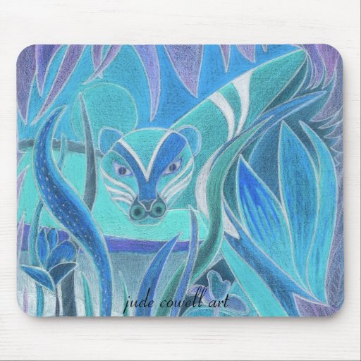 'Blue Tiger' mousepad