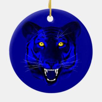 Blue Tiger Christmas Tree Ornament
