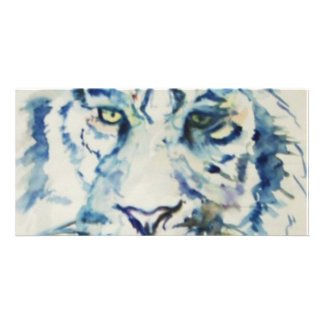 Blue Tiger Personalized Photo Card