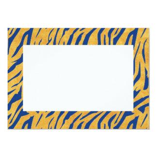 Blue Tiger Print Invitation
