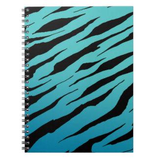 Blue Tiger Stripe Notebook