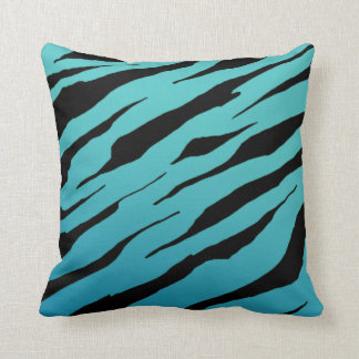 Blue Tiger Stripe Pillows