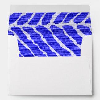 Blue Tiger Stripes Canvas Look Envelope