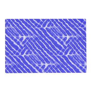 Blue Tiger Stripes Canvas Look Placemat