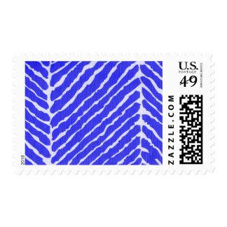 Blue Tiger Stripes Canvas Look Postage
