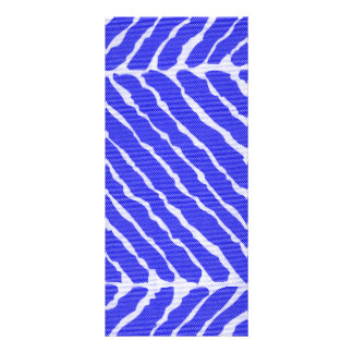 Blue Tiger Stripes Canvas Look Rack Card
