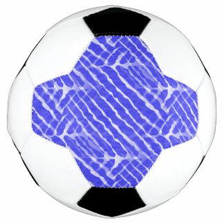 Blue Tiger Stripes Canvas Look Soccer Ball