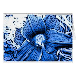Blue Tigerlilly Greeting Card