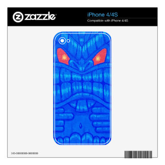 Blue Tiki iPhone 4/4s Case Decal For iPhone 4