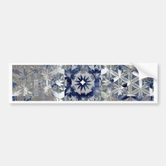 Blue Tile Abstract Art Bumper Sticker