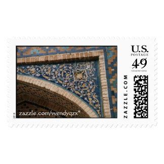 Blue Tile Arch Postage