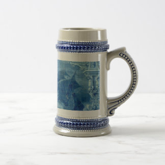 Blue tile beer stein