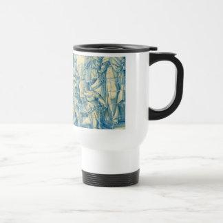 Blue tile (Full picture) Travel Mug