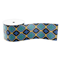 Blue Tile Grosgrain Ribbon