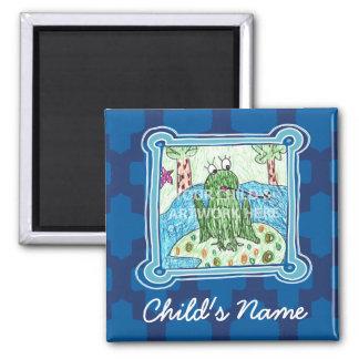 Blue Tile Magnet  $3.65