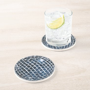 Beach Themed Blue Tile Mosaic Sandstone Coaster