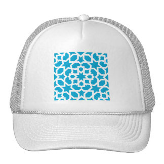 Blue tile of arabesque Moroccan and mosaic Trucker Hat