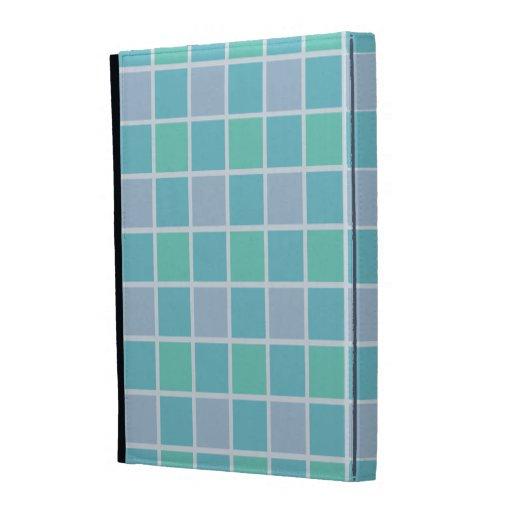 Blue Tile Pattern iPad Folio Cover