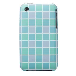 Blue Tile Pattern Case-Mate iPhone 3 Case