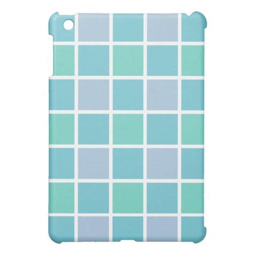 Blue Tile Pattern iPad Mini Cases