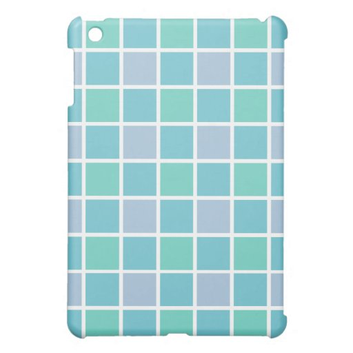 Blue Tile Pattern iPad Mini Cover