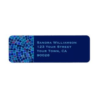blue tile return address labels