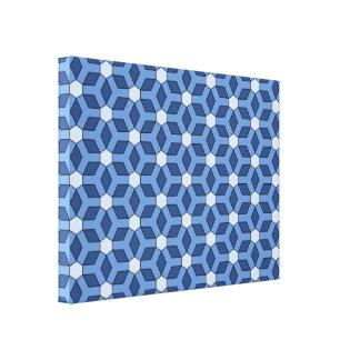 Blue Tiled Hex Canvas