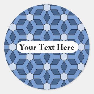 Blue Tiled Hex Sticker