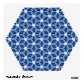 Blue Tiled Hex Wall Decal
