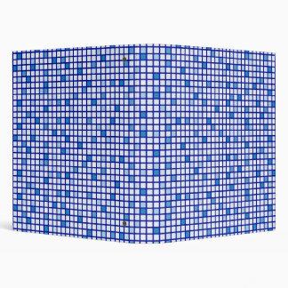 Blue Tiles 3 Ring Binder
