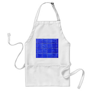 Blue tiles background adult apron