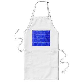 Blue tiles background long apron