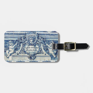 Blue tiles from Portugal Bag Tag