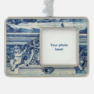 Blue tiles from Portugal Christmas Ornament