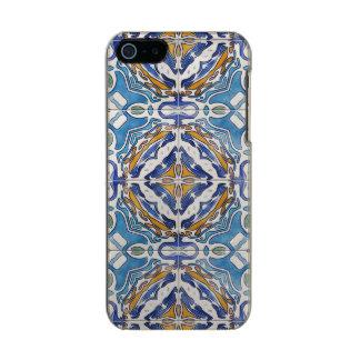 Blue Tiles Metallic Phone Case For iPhone SE/5/5s