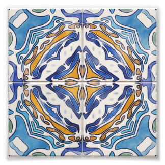 Blue Tiles Photo Print