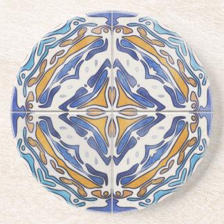 Blue Tiles Sandstone Coaster