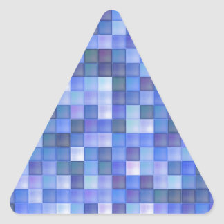Blue Tiles Triangle Sticker