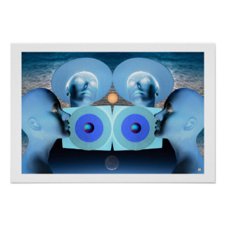 Blue Time-Print Poster