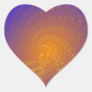 Blue timeless heart sticker