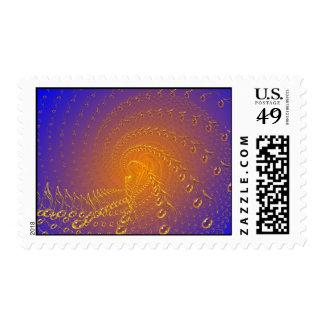 Blue timeless postage