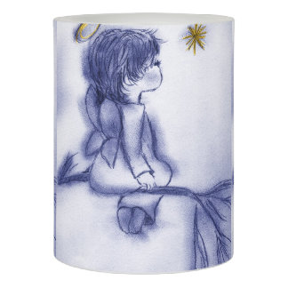 blue tint angel wishing flameless candle