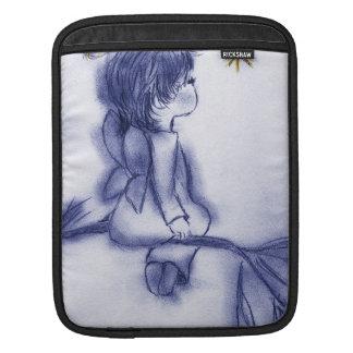 Blue Tint Angel Wishing iPad Sleeve