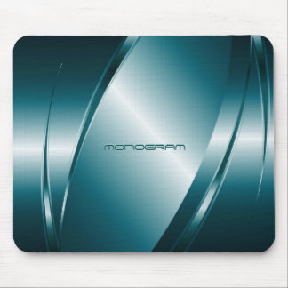 Blue Tint  Metallic Look-Stainless Steel Pattern Mouse Pad