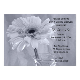 Blue Tinted Daisy Bridal Shower Invitation