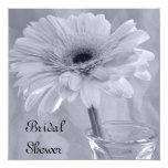 Blue Tinted Daisy Bridal Shower Invitations