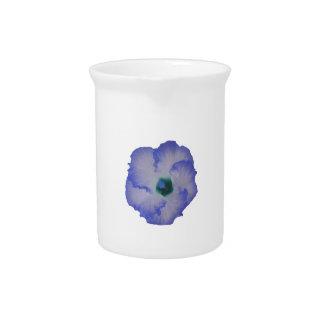 Blue tinted hibiscus flower beverage pitcher