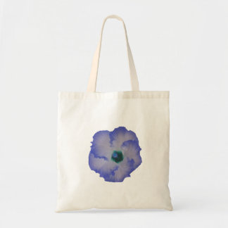 Blue tinted hibiscus flower budget tote bag