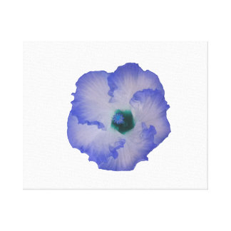 Blue tinted hibiscus flower canvas print
