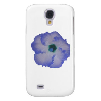 Blue tinted hibiscus flower galaxy s4 case